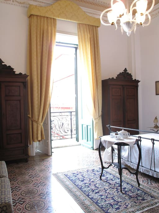 the  large bedroom