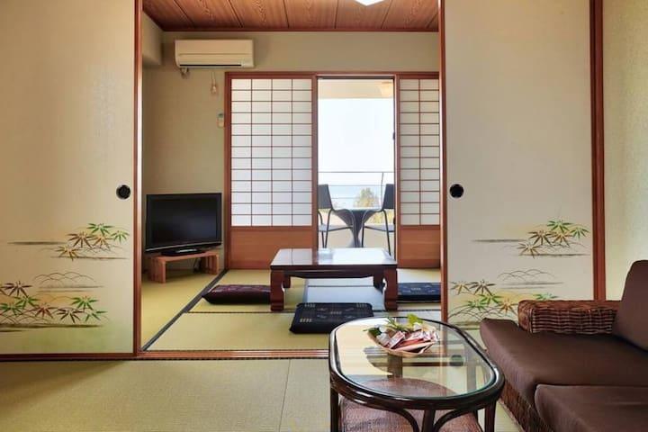 2F和室・月桃・☆畳/Tatami Room☆・★瀬底ビーチ徒歩5分★・★美ら海水族館車で15分☆