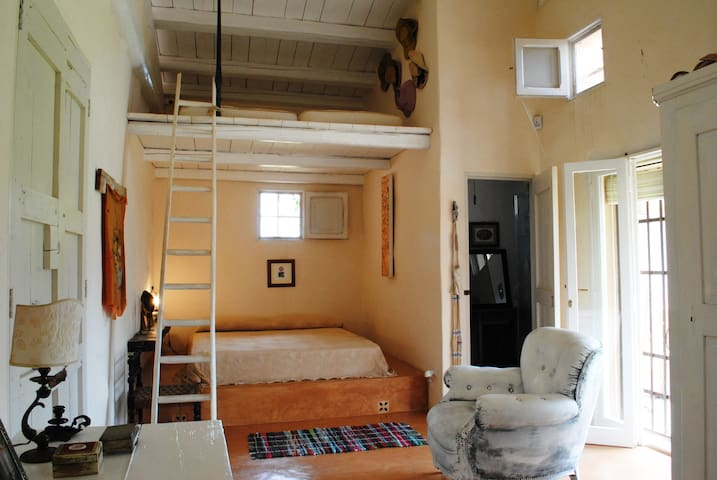 bedroom with loft bed