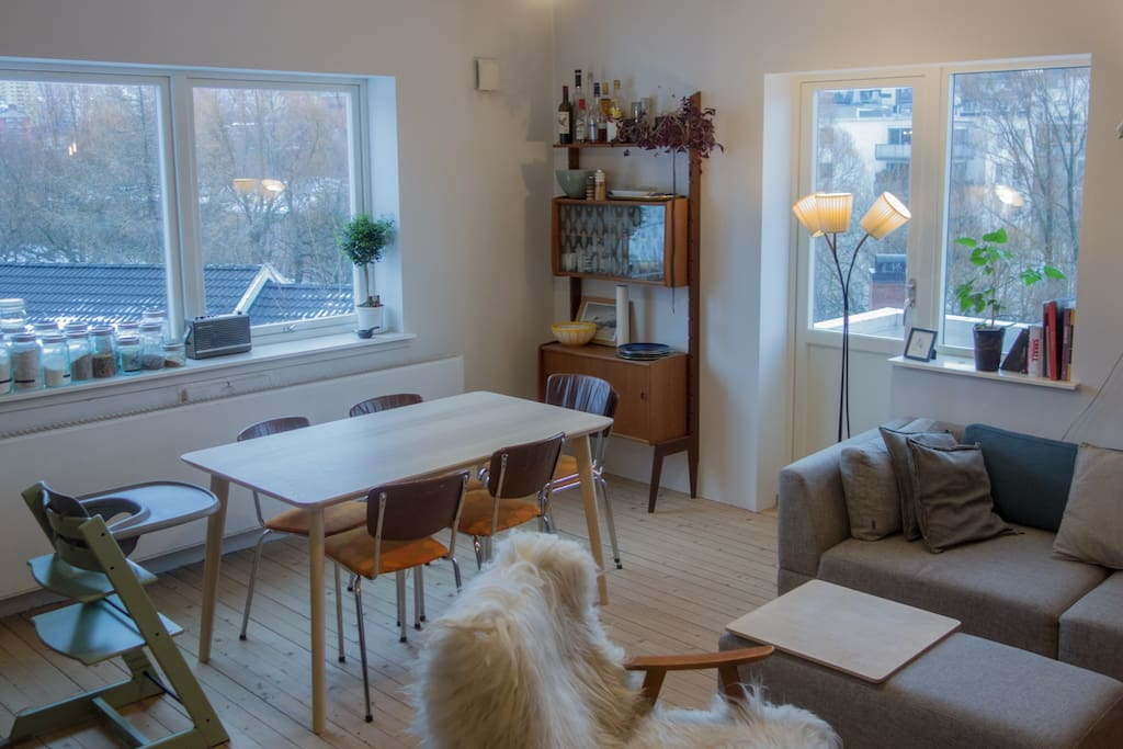 Dining table with windows