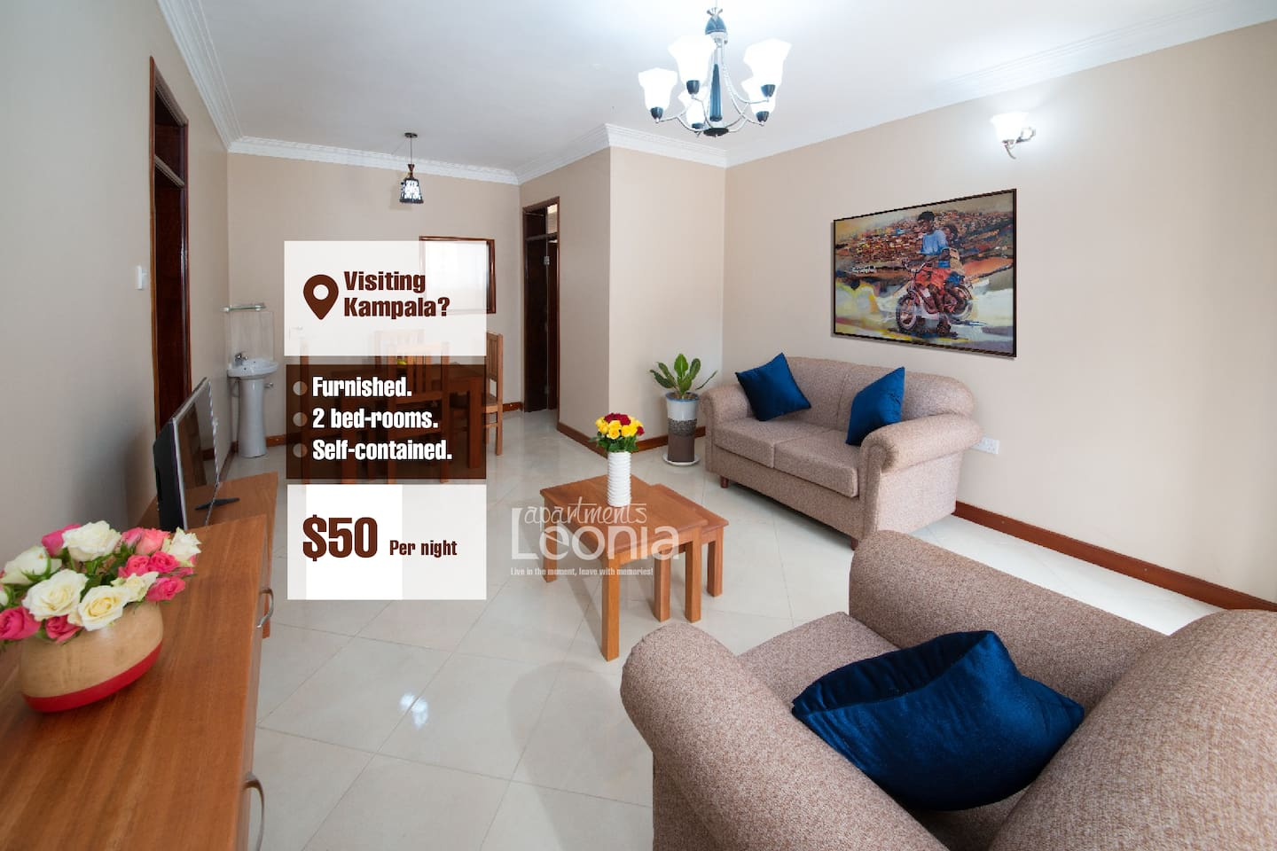 Apartments Leonia - Self-contained 2 Bedroomed apartments in Kampala