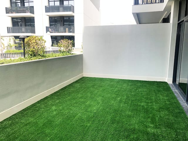 Large Private Patio accessible from both Bedroom and Living Room