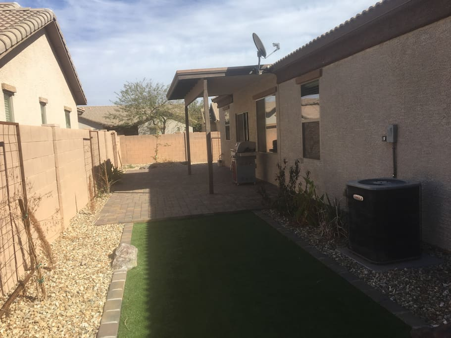 Paver Patio and artificial turf
