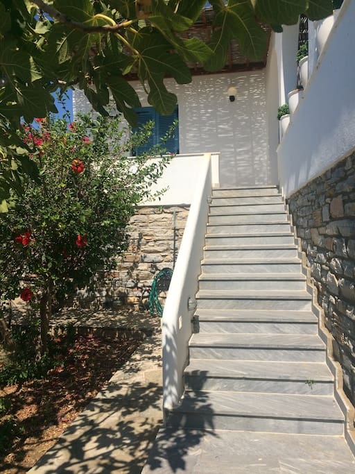 Terrace entrance stairs