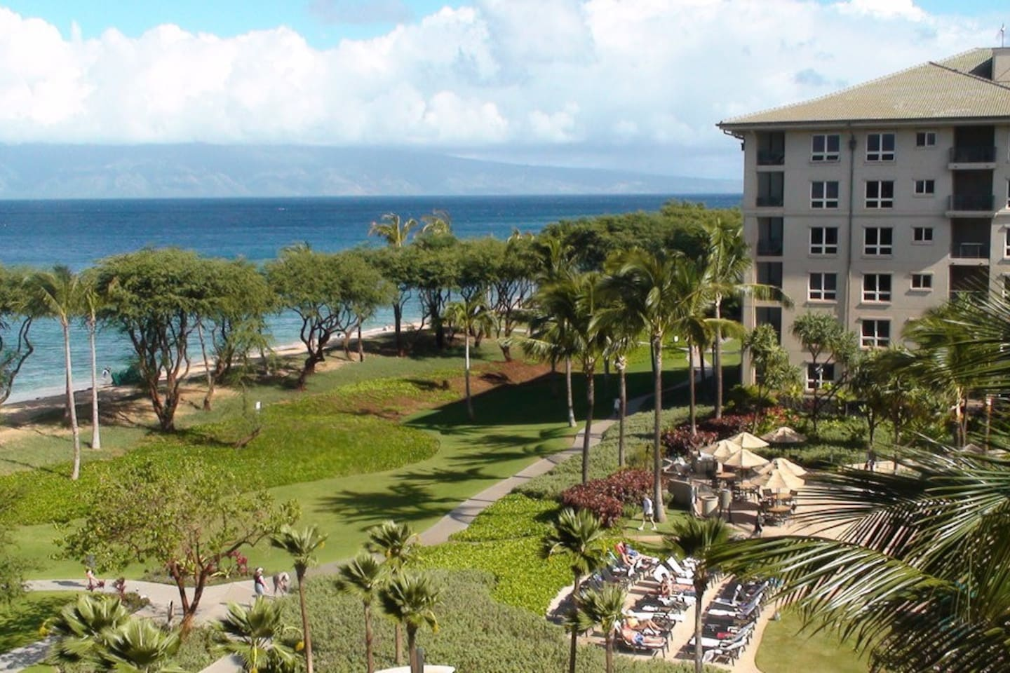 View of Molokai Island from the resort