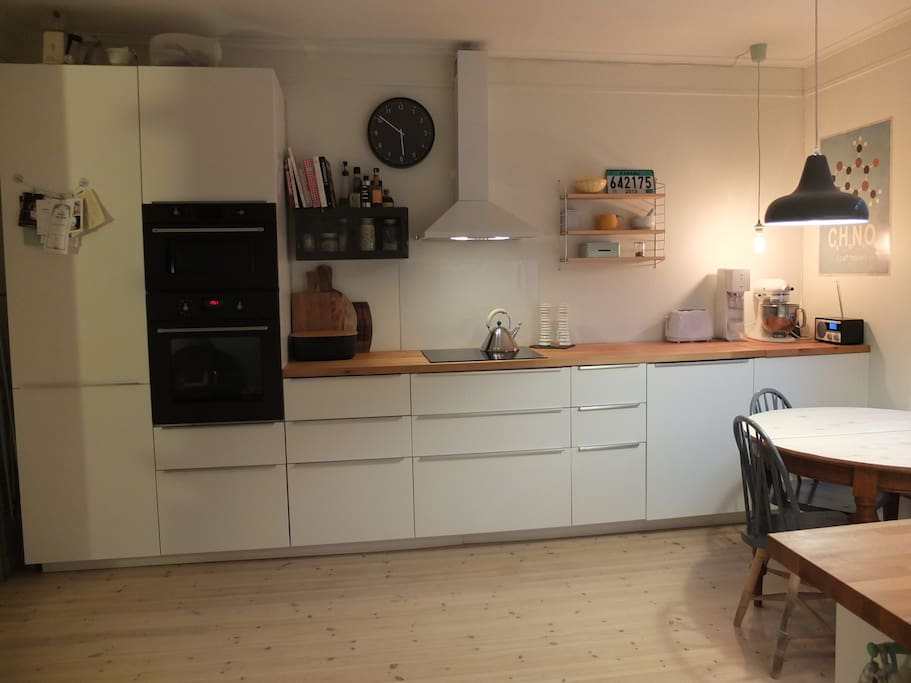 Well equipped, large and nice kitchen.
