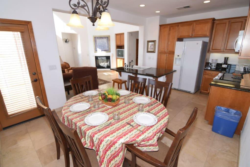 El Dorado Ranch san felipe baja resort villa 251 dinner table kitchen and living room