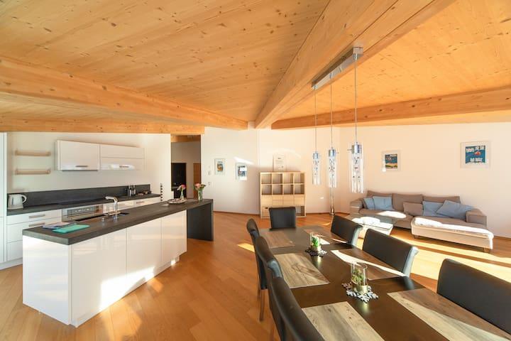 Haus Edelweiss, (Bad Ragaz), 3.5-room apartment Alpenrösli