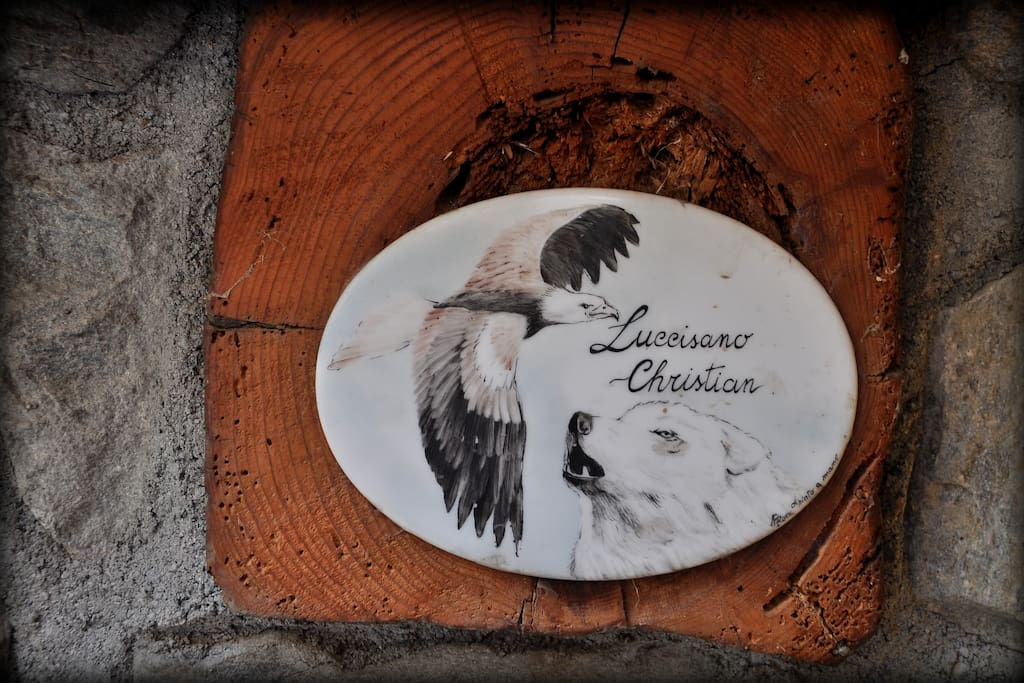 Targhetta Aquila e Lupo con Nome Proprietario
