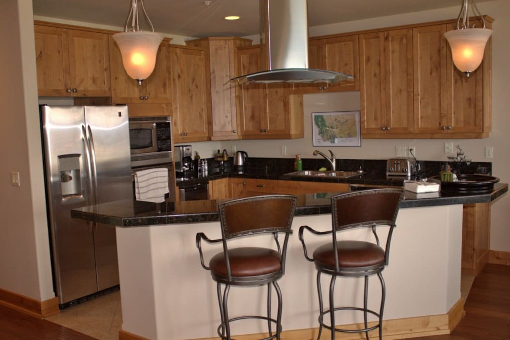 High-end finishes make this a great gourmet kitchen.