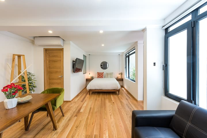 Unit 1 Family Air Conditioning 2BR/2BA in Condesa