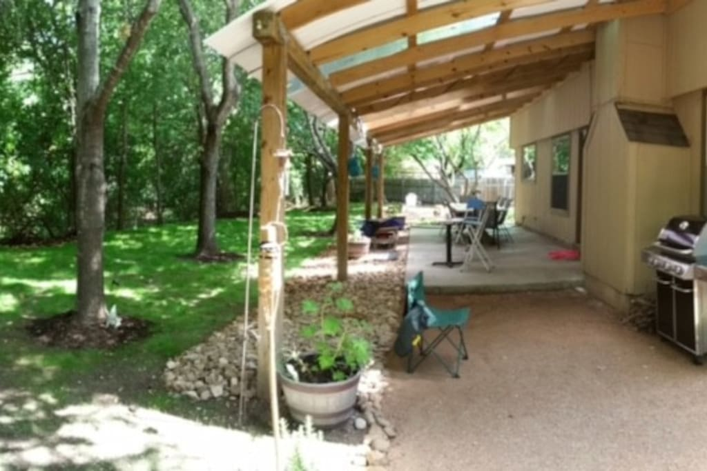 Back Patio and Back Yard