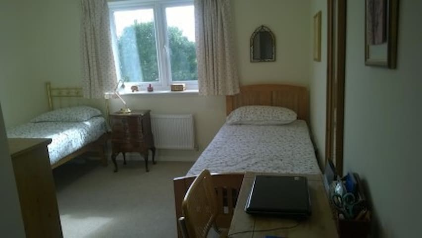 doble bright confortable room in modernn flat - Hersham