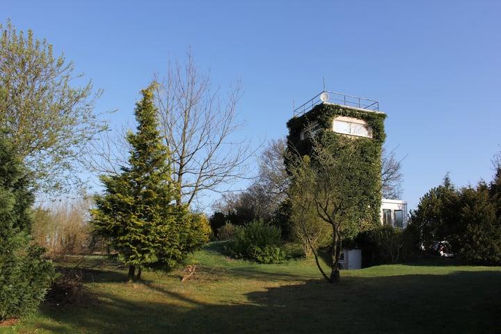 Historic Watchtower: 360 degree Panorama Elb View!