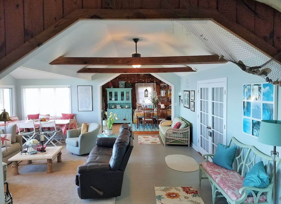 Our cozy comfy family room with wide open view is a great place to gather or just relax!