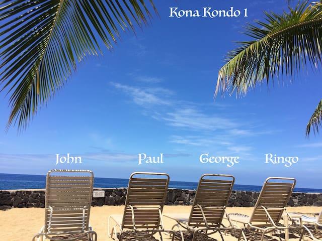 Kona Kondo I- beautiful oceanfront Casa de Emdeko