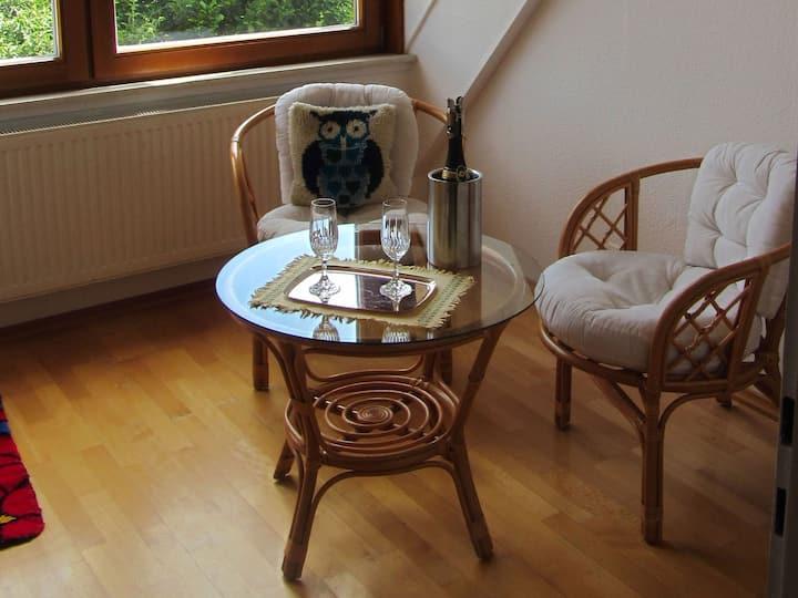 Ferienwohnung Eule, (Donaueschingen-Aufen), Ferienwohnung Eule, 76qm, 1 Schlafzimmer, max. 3 Personen