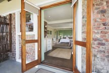 lovely open rooms with views of the garden