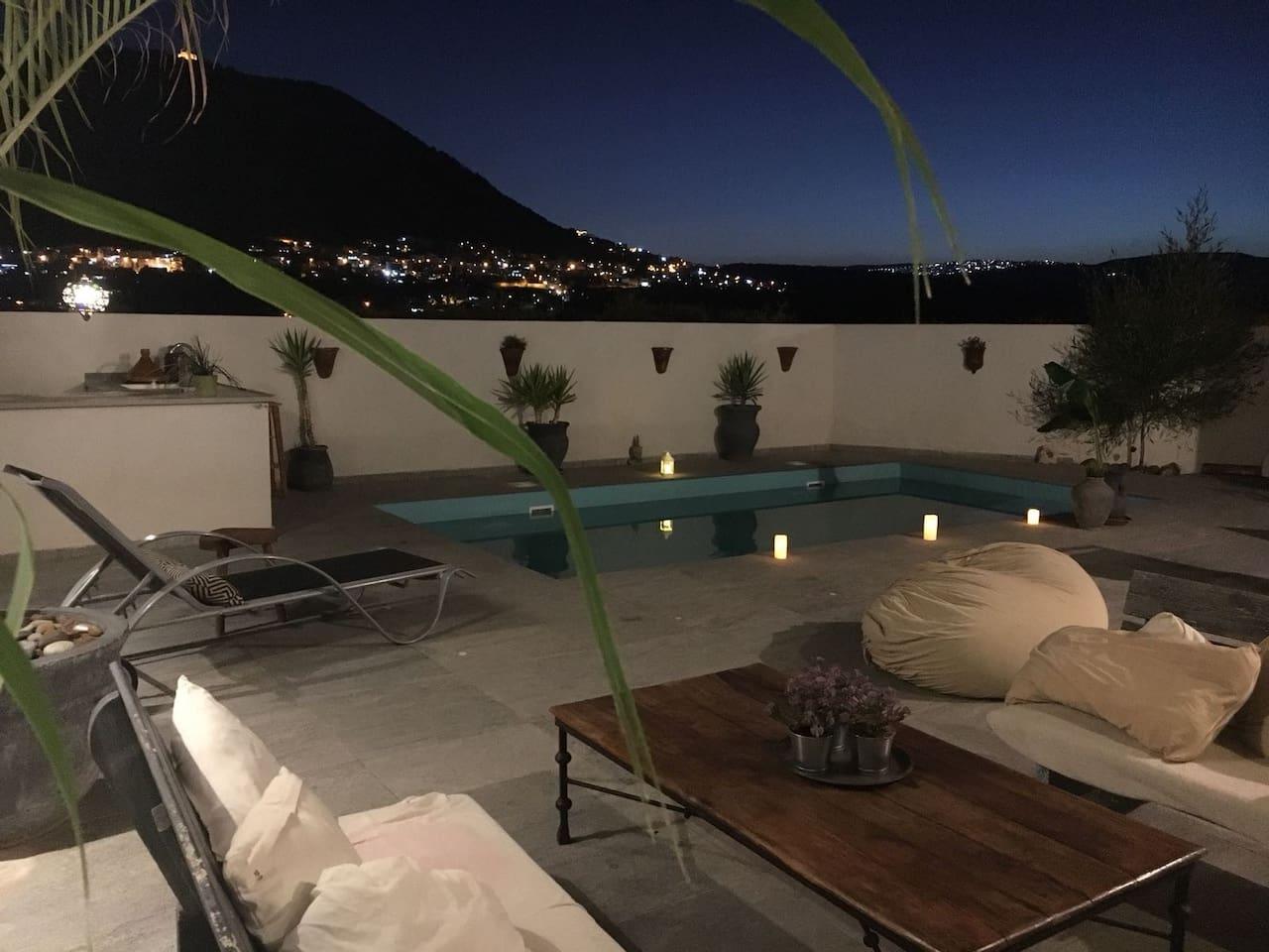 Stylish villa with pool and mount Tavor