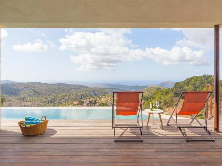 Can Jordi - Villa with infinity pool in Galilea