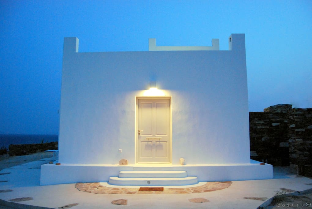 The  entrance of Ios Art Villa .    http://ios-cyclades.weebly.com