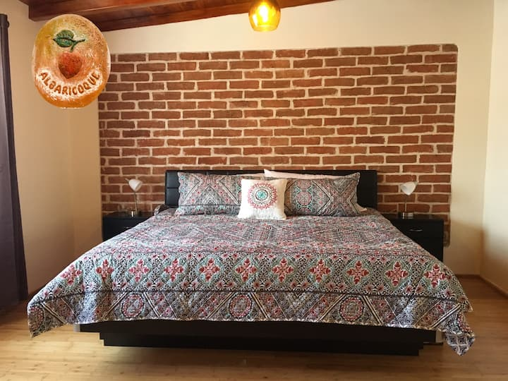 Albaricoque, mini departamento con cama increíble