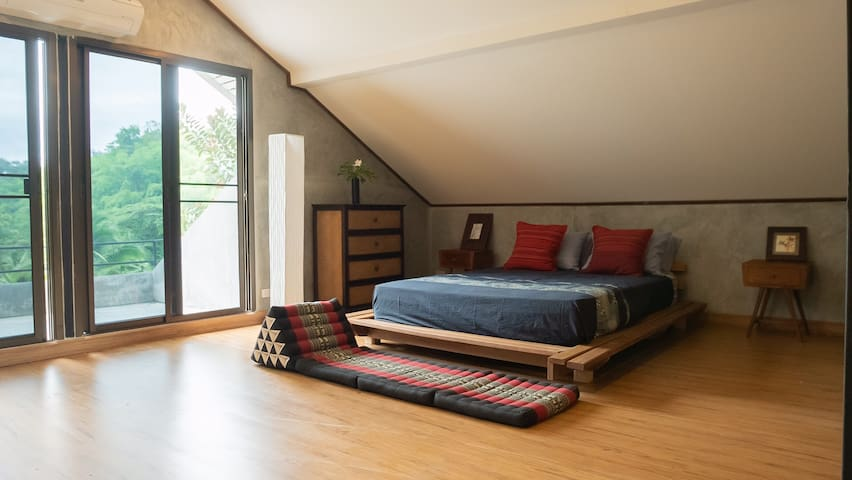 Upstairs Bedroom, enjoy the view of Kamin's Lakes and Fields.