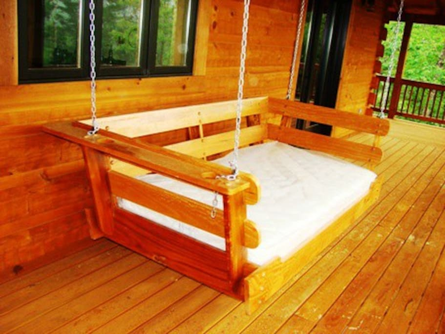 Rock Your Cares Away on the Cushy Porch Swing
