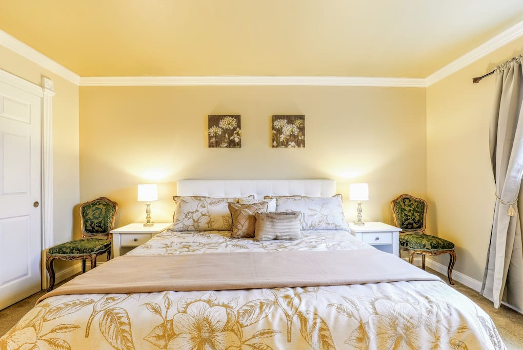 Comfortable King Size Bed in Bedroom #1