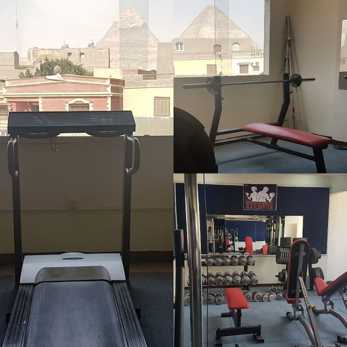 we have Gym in the first floor you can work out on it any time during your stay.