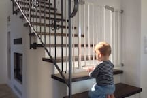Two safety gates can be installed to protect your children.