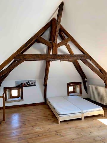 Chambre 3 : 2 lits doubles possibles