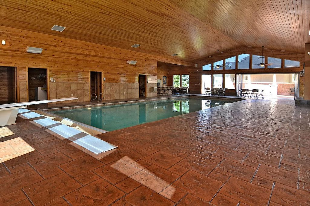 Pool House with 45' pool