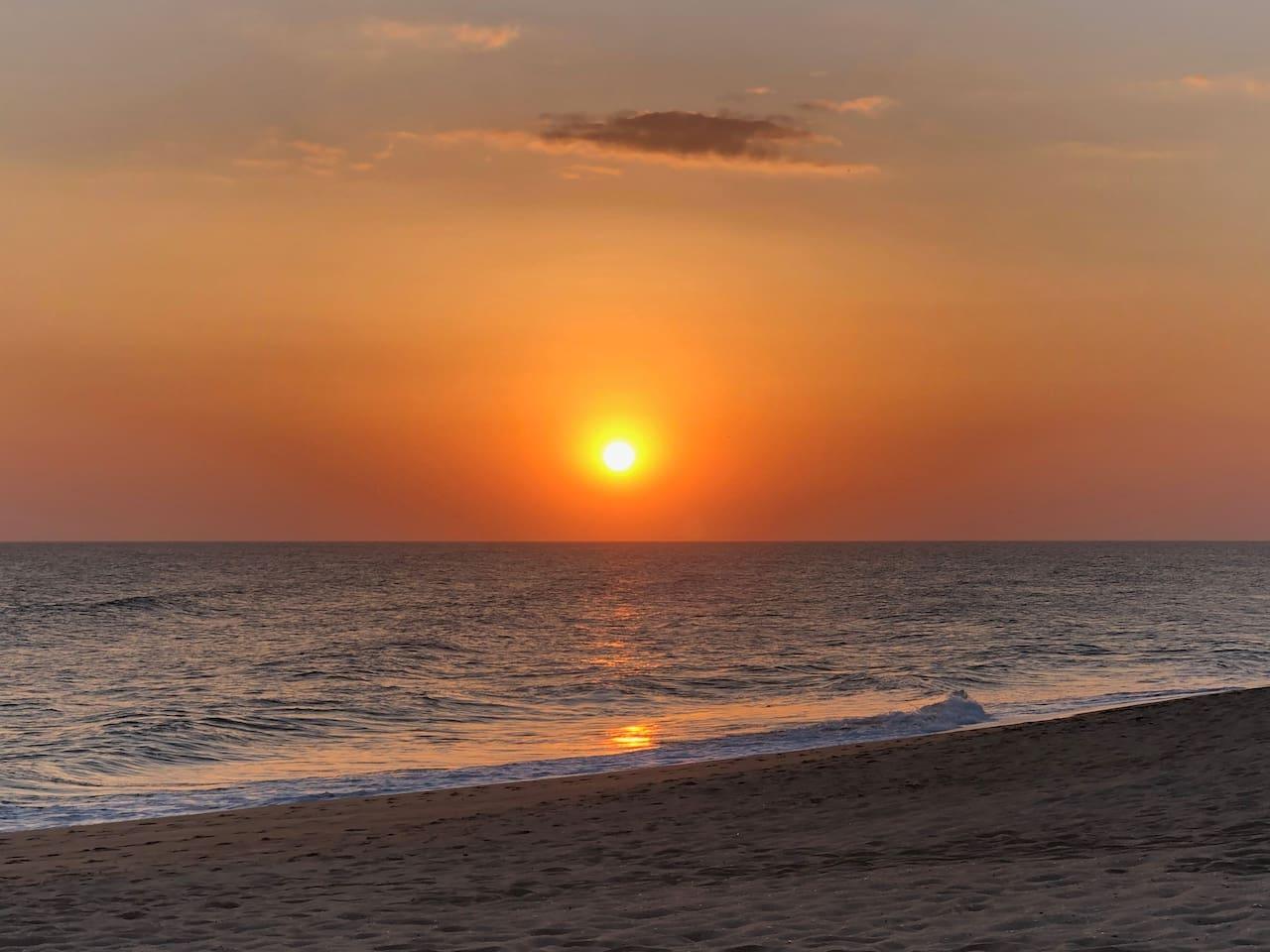 Por do sol na praia