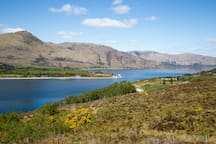 Loch Linnhe with ferry to Ardnamurchan peninsula