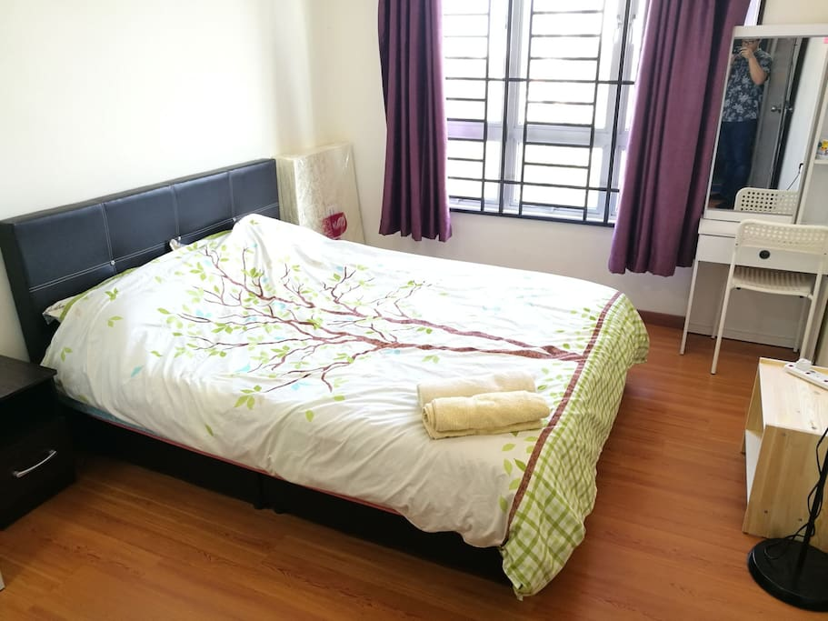 Master Bedroom with Air Con.