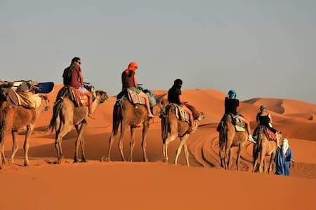 Merzouga Riad Camel Camp Excursion - Hassilabied - Bed & Breakfast