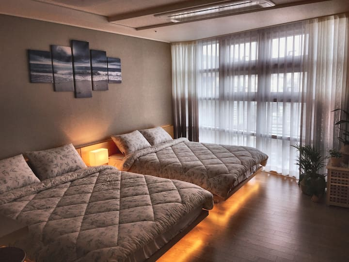 Cozy&Clean LuNa House 2min to Busan KTX station