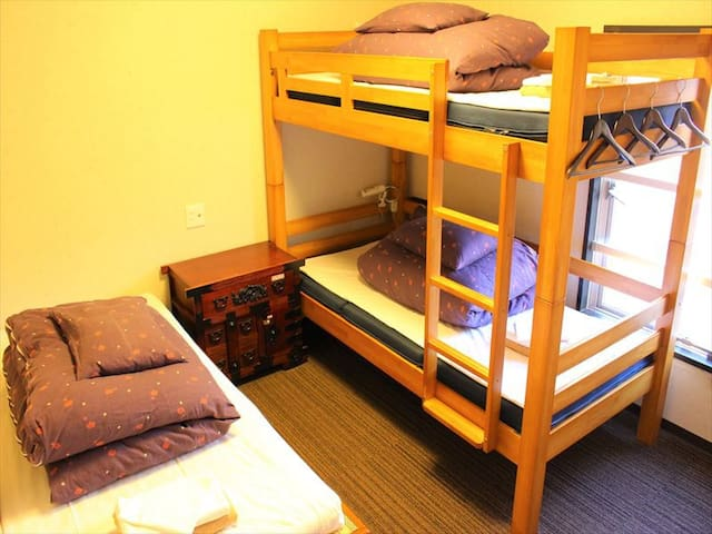 5 min from station, Triple room with bathtub