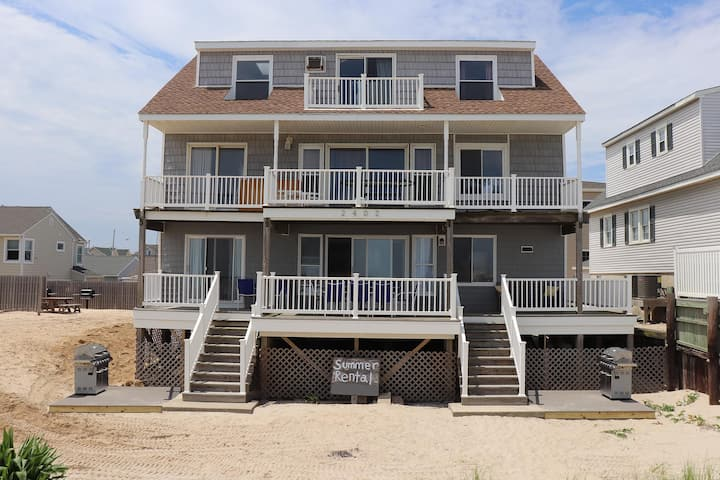 Lavallette Ocean Front Vacation Rental/Downstairs!