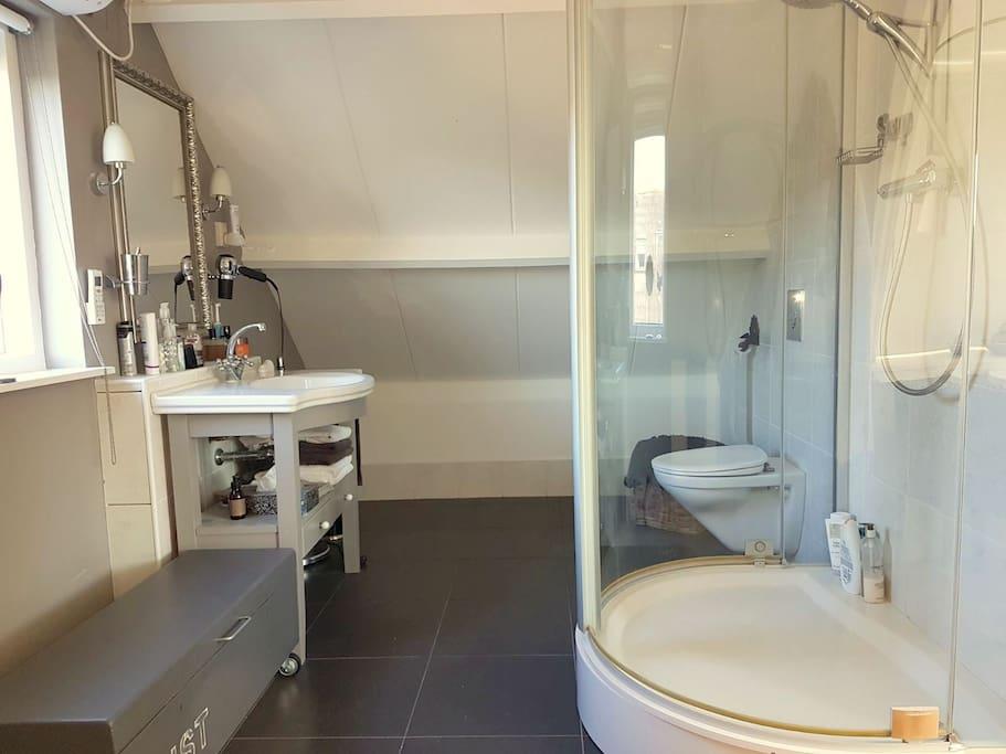 Het badkamer gedeelte