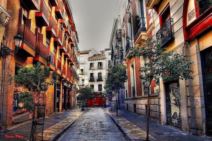 APARTAMENTO 2PERSONAS+ WIFI GRATUITO+CENTRO - Madrid - Huoneisto