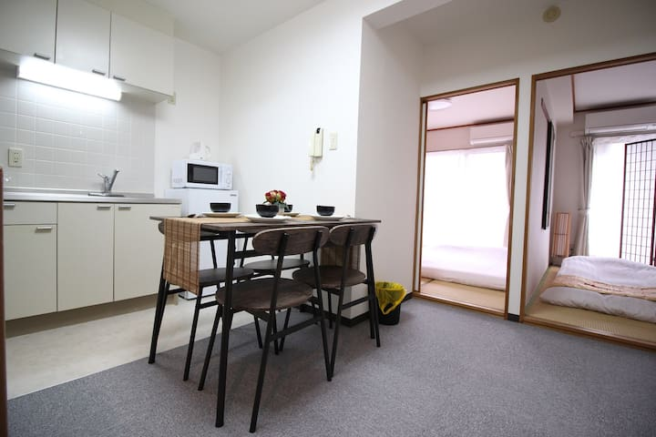 B03☆Guest room/Shinjuku center/4min STA/Free Wifi!
