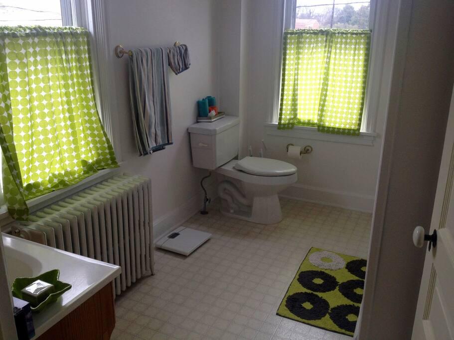 Full bathroom (including shower/bathtub) solely for guest use!