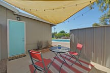 Private patio for our guests.