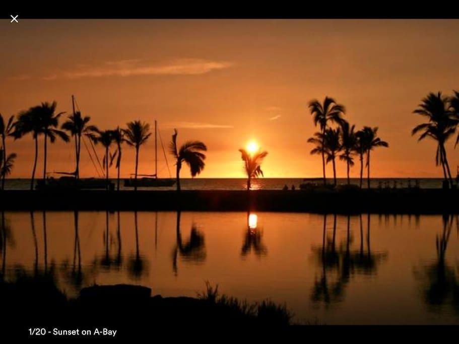 Sunset at A Bay