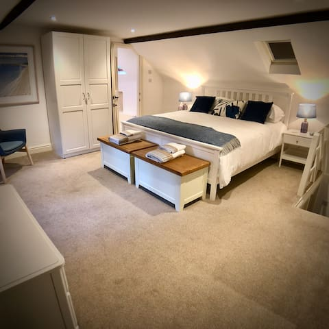 Stunning master bedroom and en-suite with Superking sized bed