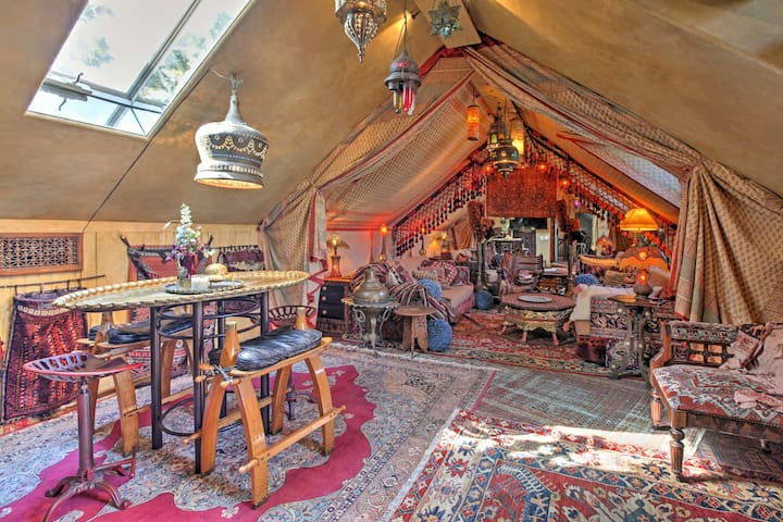 'The Sultan's Tent' transports you to back to the Moroccan bygones.