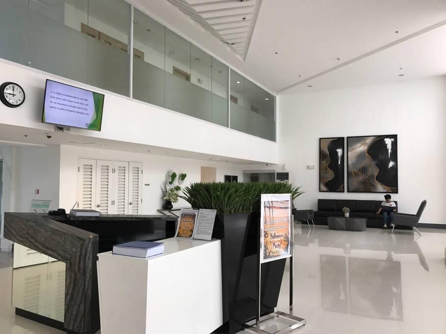 A cozy lobby
