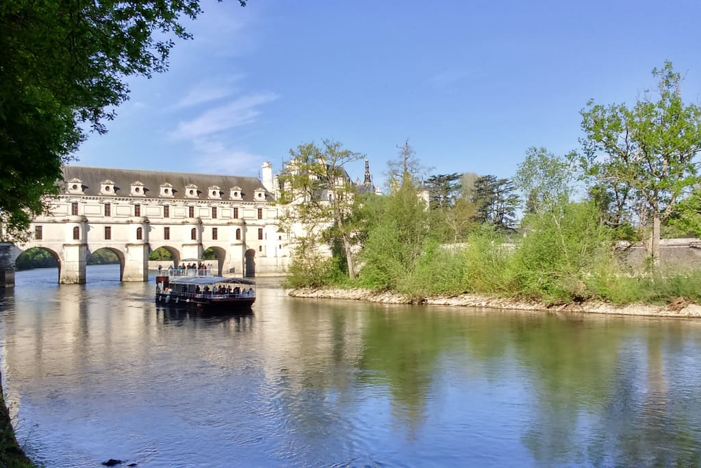 Chenonceau Castle on the Cher river